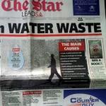 Waterverspilling klein