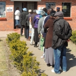 Zimbabwe rijen stembureaus